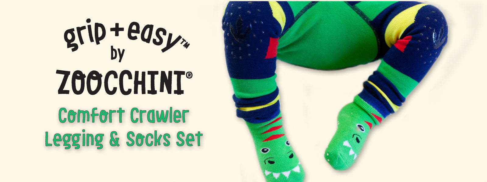 ZOOCCHINI grip+easy crawler leggings
