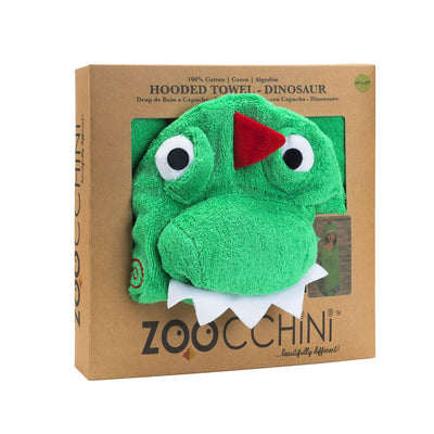 ZOOCCHINI Kids Plush Terry Hooded Bath Towel - Devin the Dinosaur-6