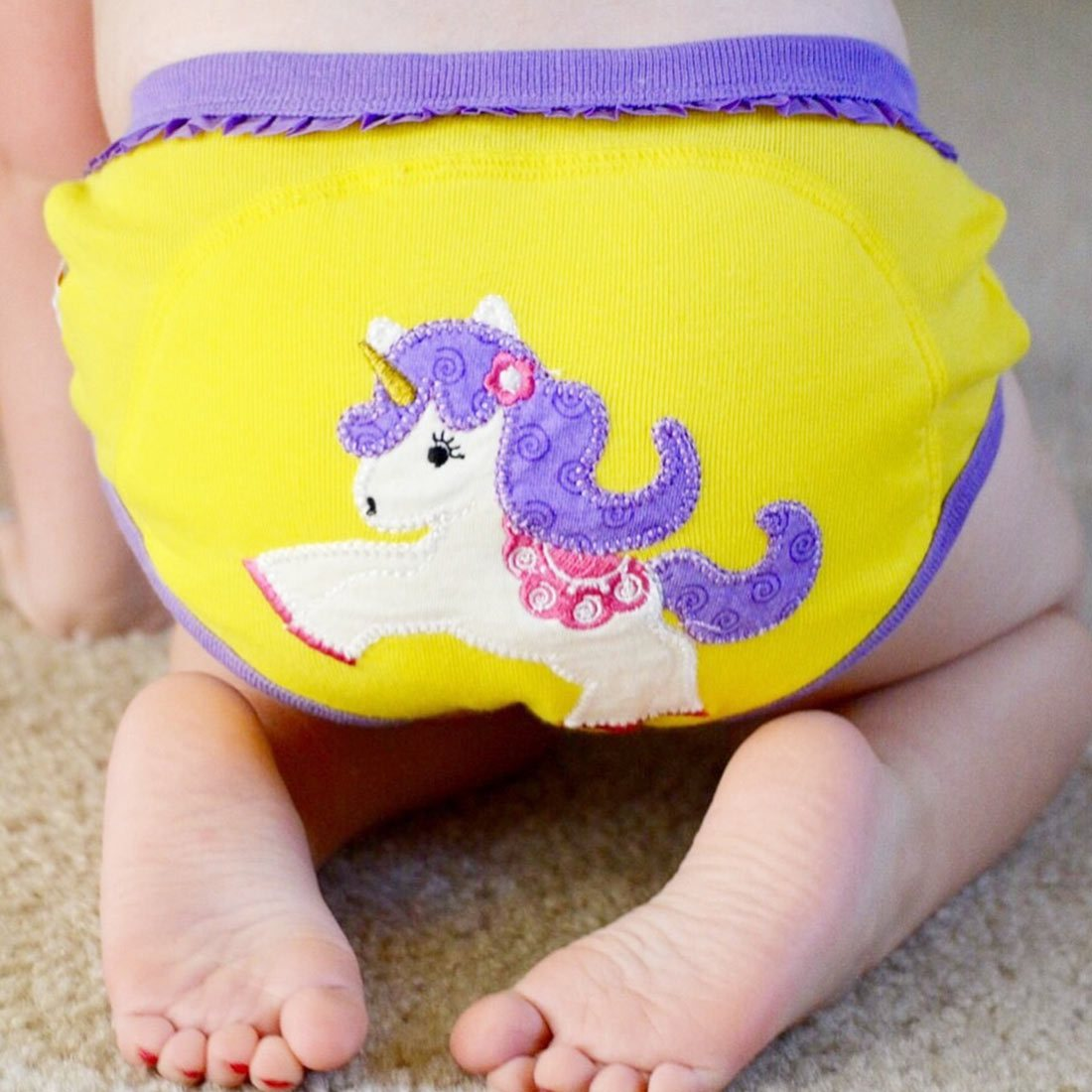 ZOOCCHINI Girls 3 Piece Organic Potty Training Pants Set - Fairy Tails