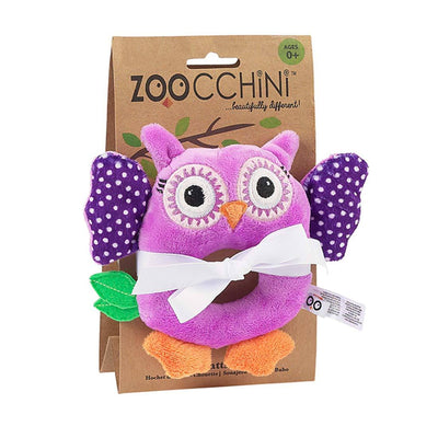 ZOOCCHINI Baby Buddy Rattle - Olive the Owl-2