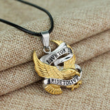 MEN'S STAINLESS STEEL EAGLE PENDANT W/ NECKLACE - SPECIAL OFFER
