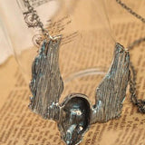 SKULL HEAD W/ WINGS PENDANT W/ NECKLACE - SPECIAL OFFER -RETAIL