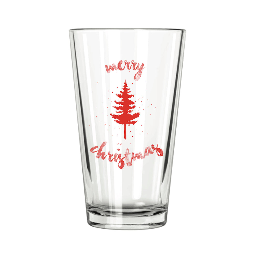 Christmas Tree Pint Glass - Northern Glasses Pint Glass