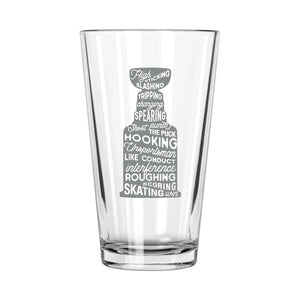 Hockey Stuff Pint Glass - Northern Glasses Pint Glass