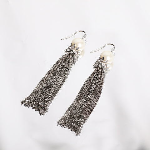 Pearl tassels earring - MY FLASH TRASH