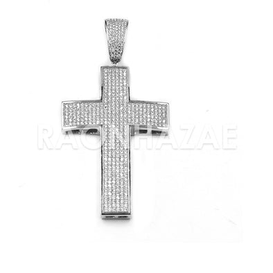 New Lab diamond Micro Pave JUMBO 2PAC Cross Pendant.