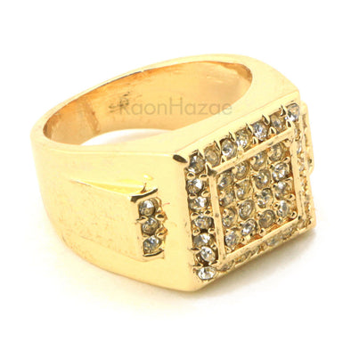 "HIP HOP FASHION SOLID ""TRAVIS SCOTT"" GOLD PLATED RING BK008G - Raonhazae"
