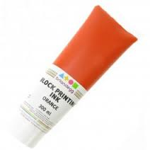 Block/Lino Printing Ink 300ml - Orange