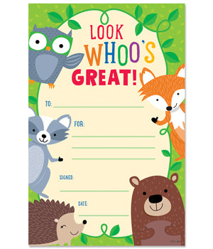 Look Whoo's Great Awards - Pack of 30