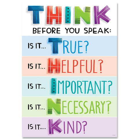 Think before you speak... Inspire U Poster