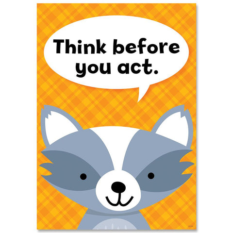 Think before you act. Woodland Friends Inspire U Poster