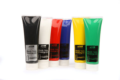 Block/Lino Printing Ink 300ml - Assorted Colour Set of 6