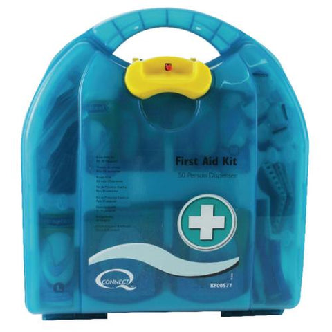 Q-Connect 50 Person Wall-Mountable First Aid Kit