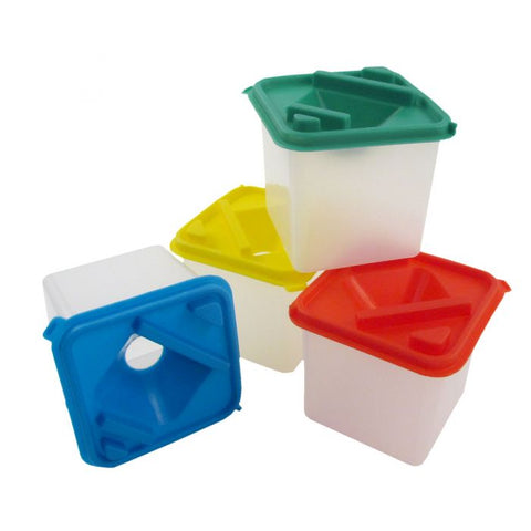Square Water Pots - Pack of 4