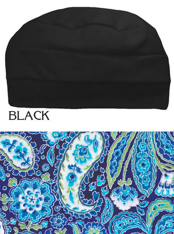 Gift Combo | Black Three Seam With Matching Wired Headband