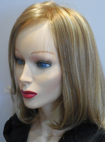 Clearance Display Model Wig | Long Bob - Golden Blonde - 100% Hand-tied
