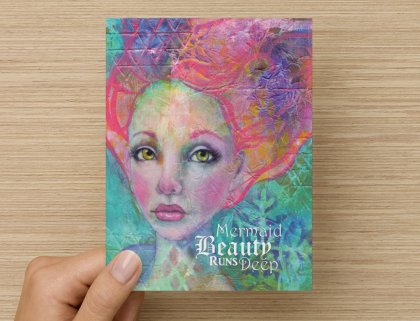 Mermaid Beauty Runs Deep - Greeting Card