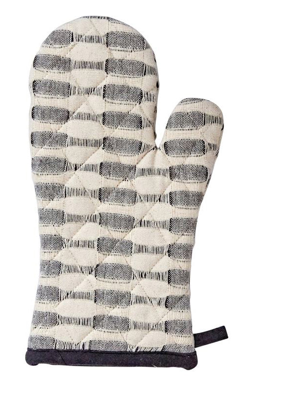 Gray Splash Cotton Woven Hot Mitt