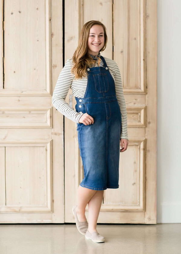 Casual Denim Overall Dress