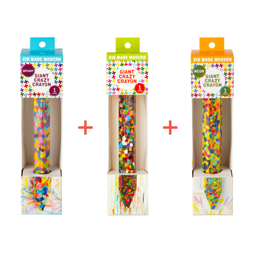 Giant Crazy Crayon Set of 3