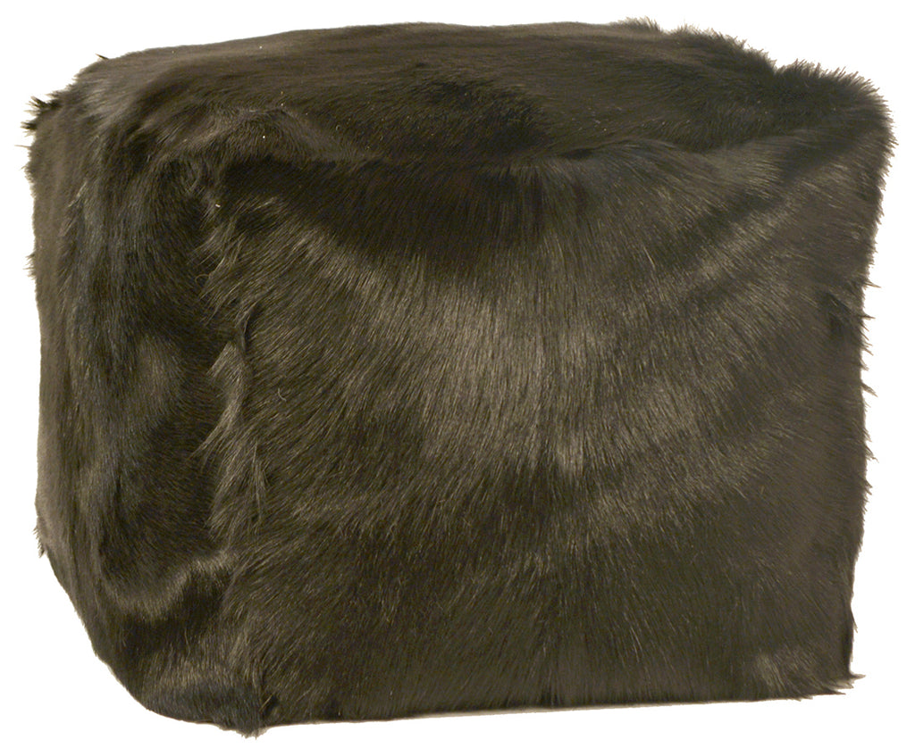 Fur Pouf- Black