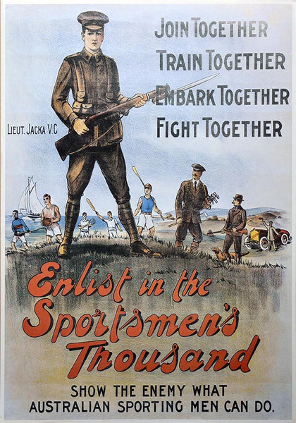 WW1 Enlistment Sportsmen's Poster