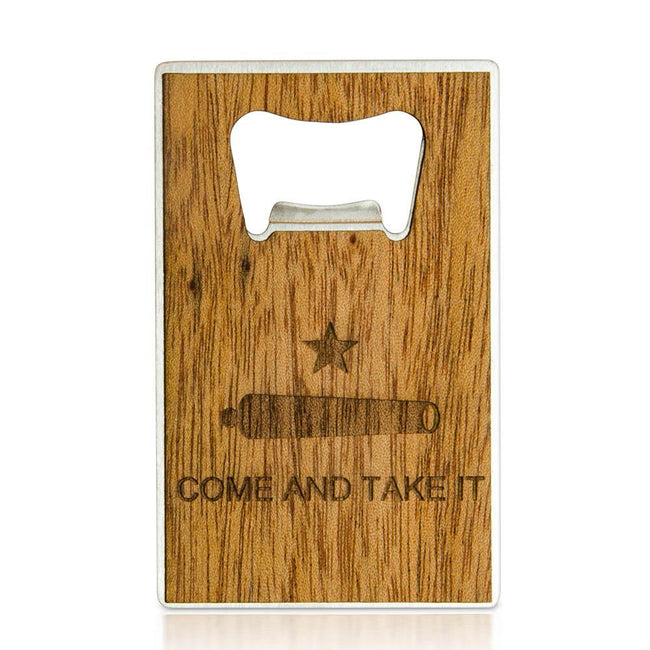 Wooden Bottle Opener - Credit Card Size - Customizable