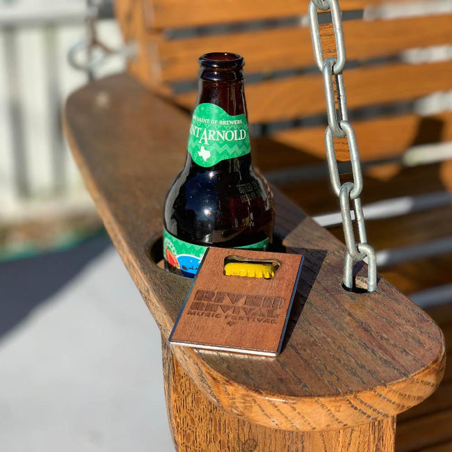 River Revival Bottle Opener - Wood Credit Card Sized Bottle Opener