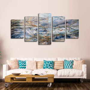 Marble Texture Multi Panel Canvas Wall Art - Abstract