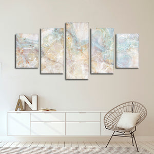 Stone Texture Multi Panel Canvas Wall Art - Abstract