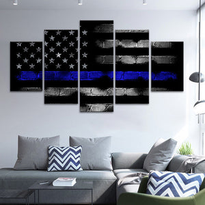 EMT Flag Multi Panel Canvas Wall Art - Medical