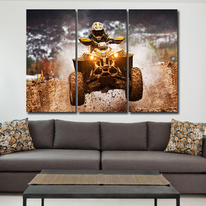 ATV Multi Panel Canvas Wall Art - Motocross