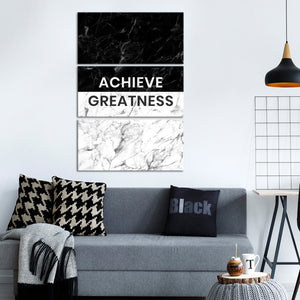 Achieve Greatness Multi Panel Canvas Wall Art - Inspiration