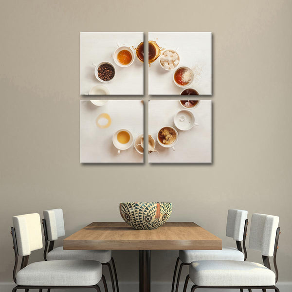 Always Coffee Time Multi Panel Canvas Wall Art