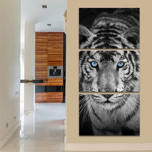 Blue Eye Tiger Multi Panel Canvas Wall Art - Tiger