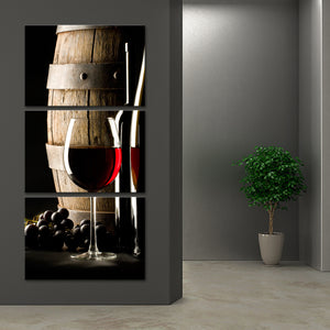 Cabernet Multi Panel Canvas Wall Art - Winery