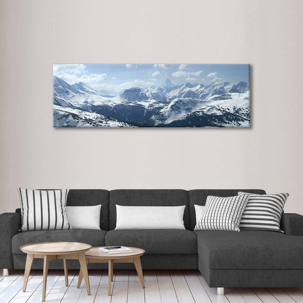 Canadian Rockies in Winter Multi Panel Canvas Wall Art