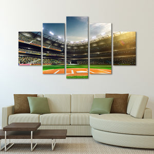 Catcher Point Of View Multi Panel Canvas Wall Art - Baseball