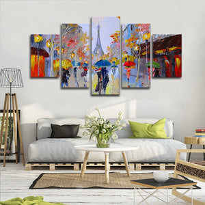 Eiffel Tower Painting Multi Panel Canvas Wall Art - City