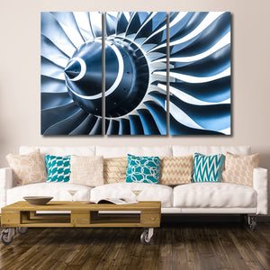 Engine Blade Multi Panel Canvas Wall Art - Airplane