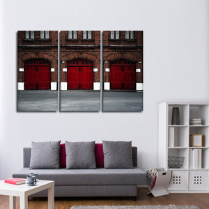 Fire Station Multi Panel Canvas Wall Art - Firefighters