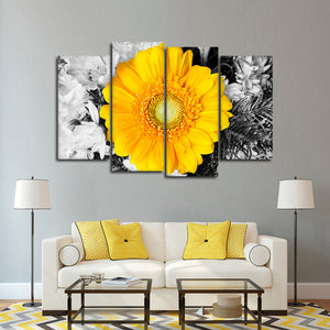Gerbera Pop Multi Panel Canvas Wall Art - Flower