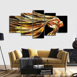 Golden Girl Multi Panel Canvas Wall Art - Color