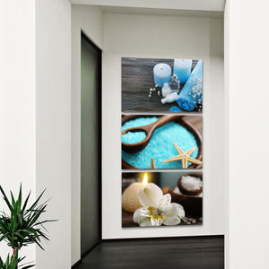 Spa Day Multi Panel Canvas Wall Art - Spa