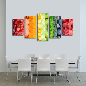 Healthy Life Multi Panel Canvas Wall Art - Kitchen