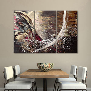 Here Comes The Night Multi Panel Canvas Wall Art - Abstract