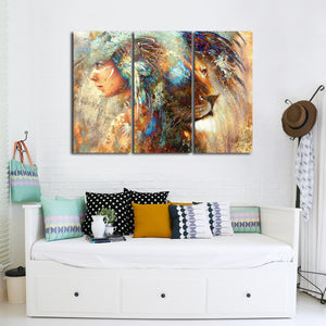 Indian Pride Multi Panel Canvas Wall Art - Native_american