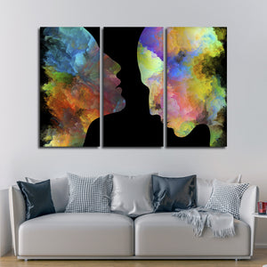 Inner Beauty Multi Panel Canvas Wall Art - Color