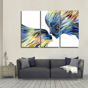 Inspiring Profile Multi Panel Canvas Wall Art - Color