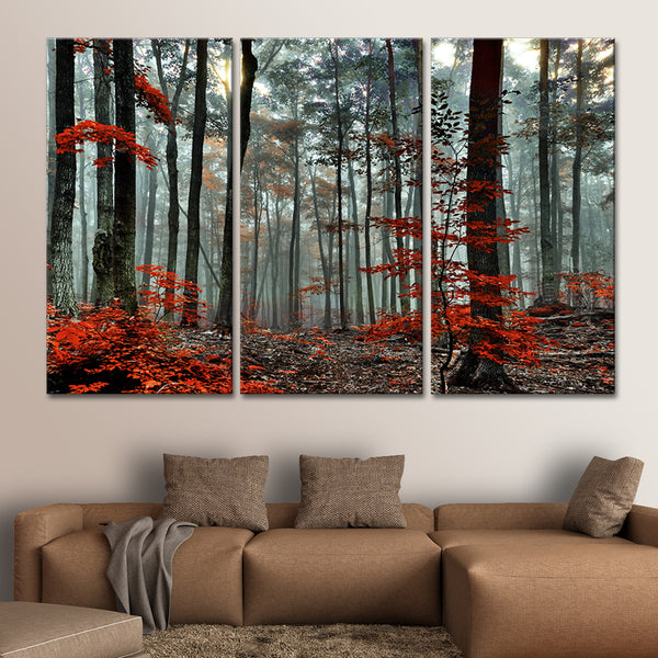 Silent Forest Multi Panel Canvas Wall Art